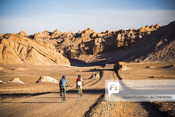 Cycling in Moon Valley (Valle de la Luna)  Atacama Desert  North Chile  Chile  South America