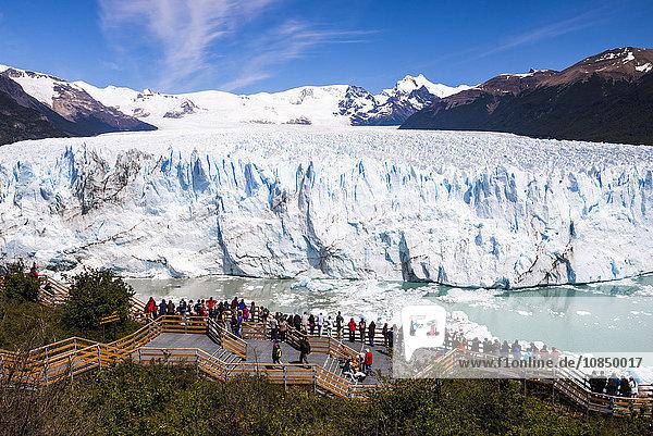 Perito Moreno Glaciar  Los Glaciares National Park  UNESCO World Heritage Site  near El Calafate  Patagonia  Argentina  South America