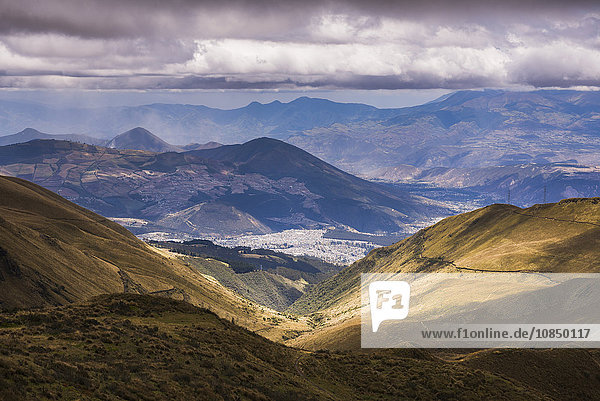 Most northern point in Quito seen from Pichincha Volcano  Ecuador  South America