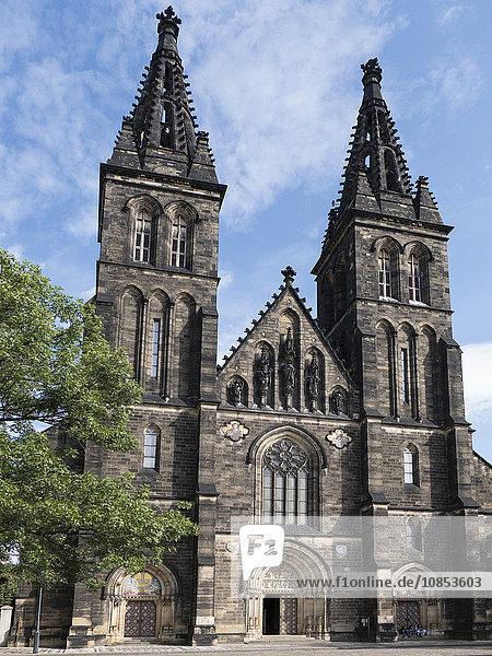 Sts. Peter and Paul church  Vysehrad  Prague  Czech Republic  Europe