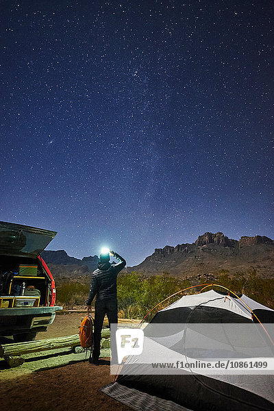 Stargazer  Big Bend National Park  Texas