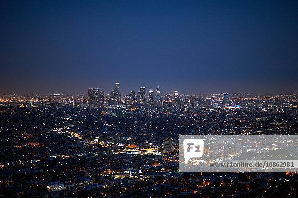 Luftaufnahme der Stadt  Los Angeles  USA
