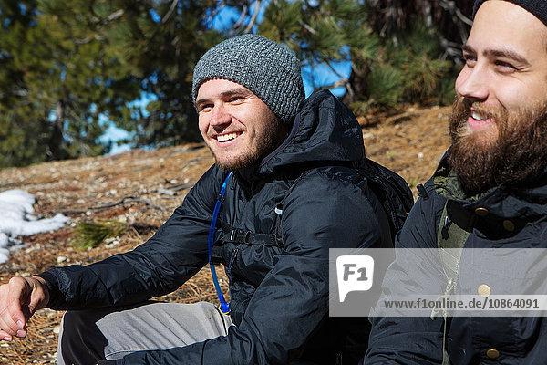 Wanderer machen Pause  Mount Baldy  Kalifornien