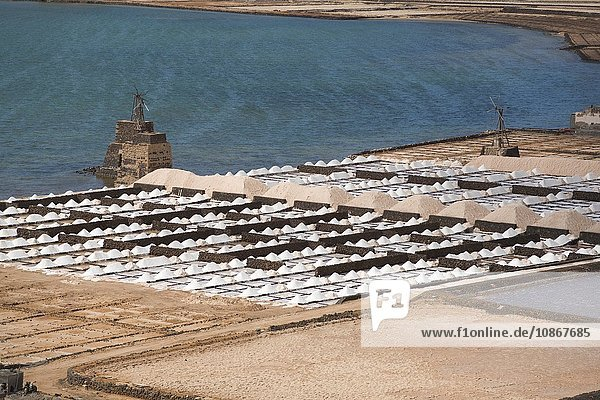 Salt mines  Lanzarote  Canary Islands  Tenerife  Spain