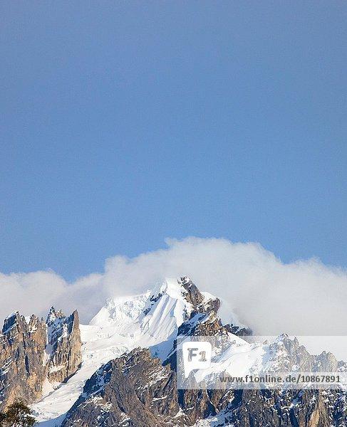 View of snow cap at Cochayoq  Andes  Peru