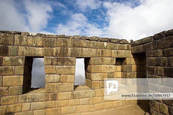 Überreste eines Raumes in Machu Picchu  Peru