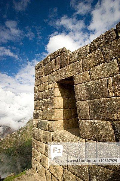 Außenansicht des Hauses in Machu Picchu  Peru