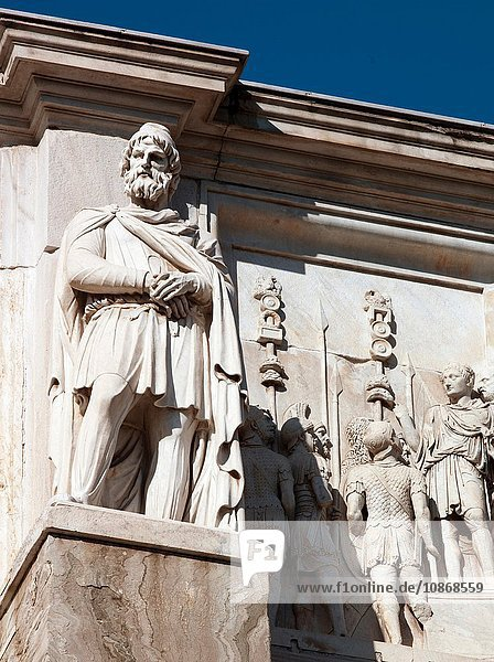 Detail of the south side of the Arch of Constantine  Rome  Italy.
