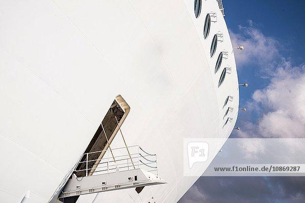Kreuzfahrtschiff  auf dem Weg nach Haiti