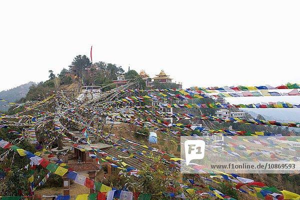 Gebetsfahnen  Kloster Kopan  Kathmandu  Nepal