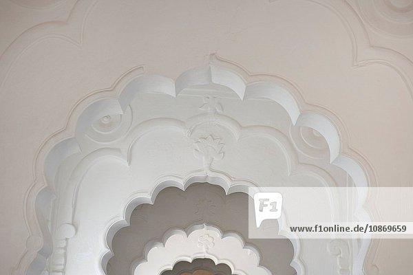 Bögen im Fort Mehrangarh in Jodhpur  Rajasthan  Indien