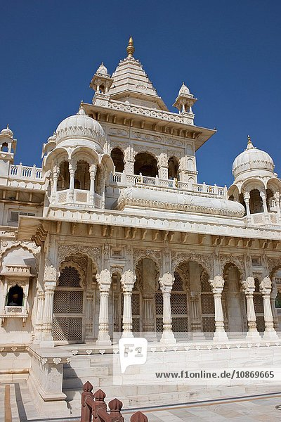Jaswant Thada bei Mehrangarh Fort  Jodhpur  Rajasthan  Indien