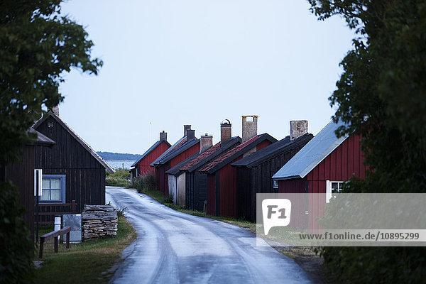 Schweden  Gotland  Gnisvard  Dorfstraße