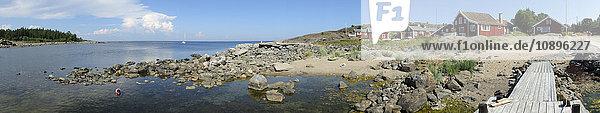 Schweden  Medelpad  Bramon  Dorf an der Küste