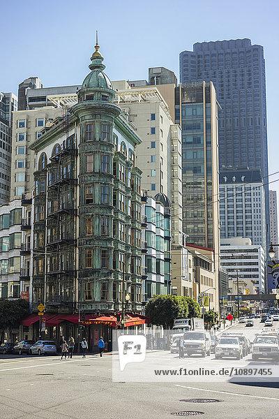 USA  Kalifornien  San Francisco  Blick auf die Stadtstraße