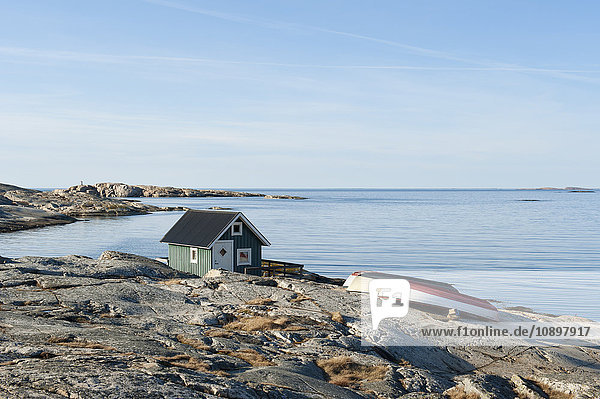 Schweden  Bohuslan  Smogen  Ferienhaus am Felsstrand