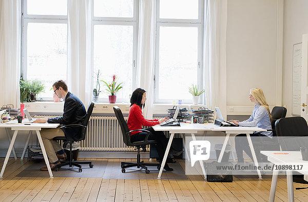 Schweden  Seitenansicht der Büroangestellten