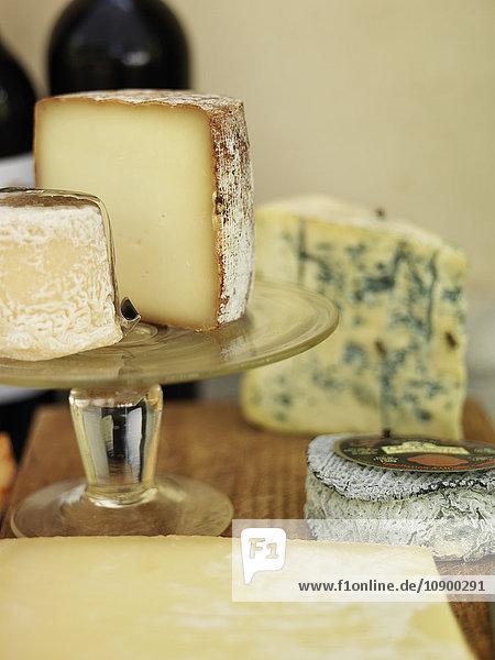 Schweden  Vastergotland  Nahaufnahme von französischem Käse
