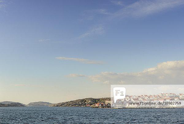 Schweden  Westküste  Bohuslan  Skarhamn  Hafenansicht des Dorfes