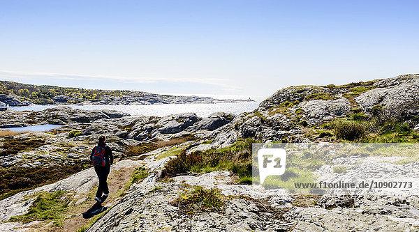 Schweden  Westküste  Bohuslan  Marstrand  Touristische Wanderungen und Ausblicke