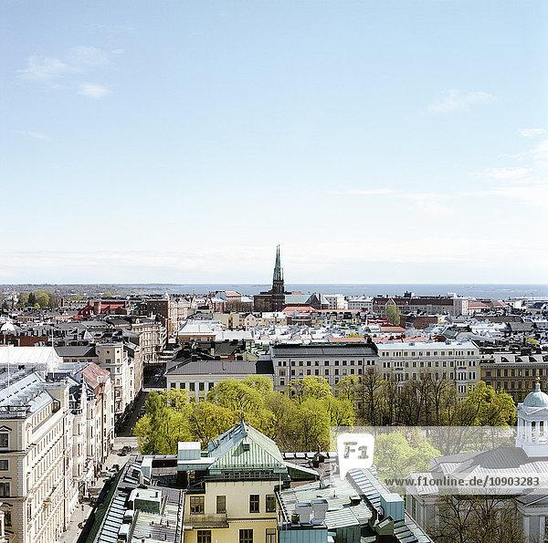 Finnland. Helsinki  Hochansicht der Stadt