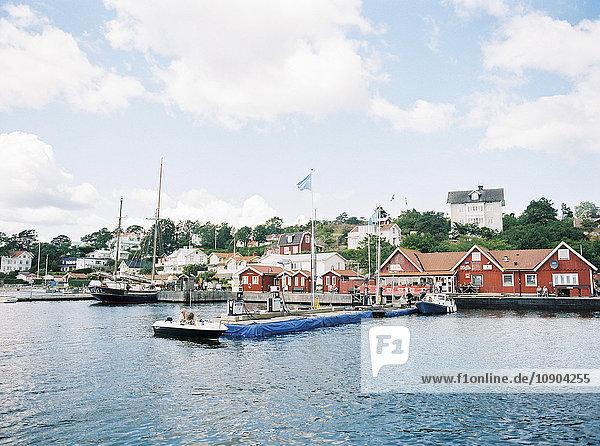 Schweden  Stockholm Archipel  Haninge  Dalaro Skans  Anlegestellen für Boote