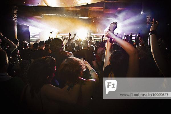 Finland  People dancing at concert