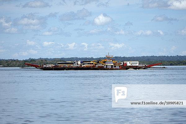 Brazil  Para  Rio Tapajos and car ferry