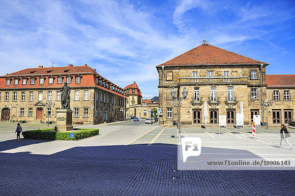 Germany  Bavaria  Bayreuth  Jean Paul Square and administrative court