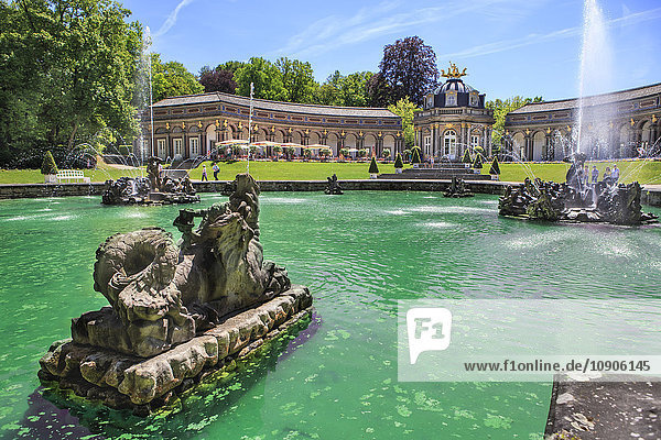 Germany  Bavaria  Bayreuth  Eremitage  Sun temple and fountain