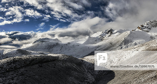 Nepal  Annapurna  Thorong La  Panoramablick