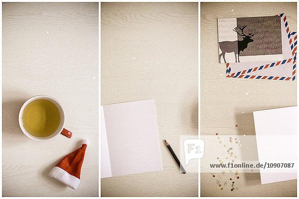 Weihnachtskarten,  Schreiben,  Basteln
