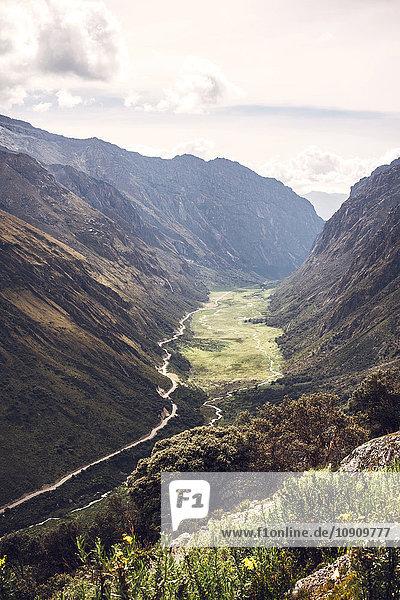 Peru  Huaraz  Blick ins Tal