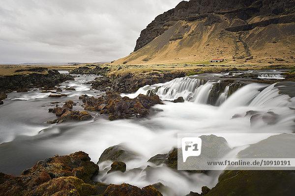 Iceland  landscape with brook