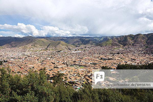 Peru  Cusco  Blick auf die Stadt