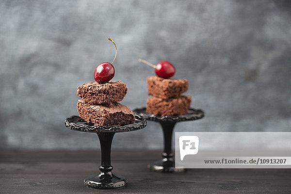Brownies und Kirschen