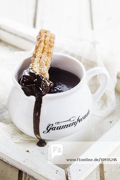 Churros mit heißer Schokolade Churros mit heißer Schokolade