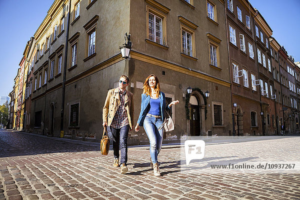 Mid adult couple on a city break in Warsaw