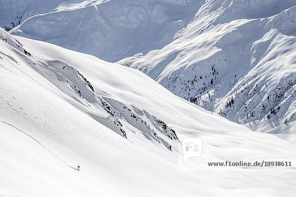 Downhill skiing in Sexten Dolomites