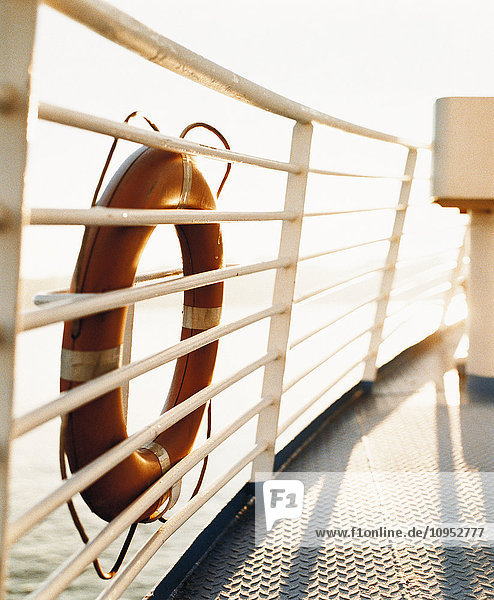 Life belt on boat