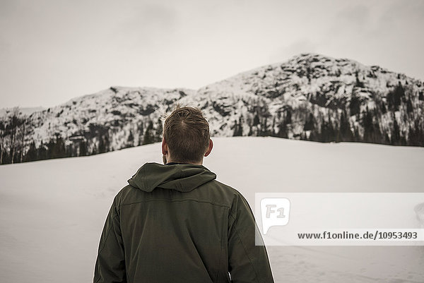 Man looking at hills, Man looking at hills