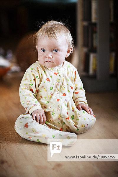 Portrait of a baby girl  Sweden.