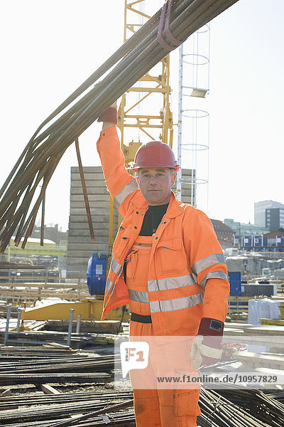 Construction worker on a construction site  Sweden.