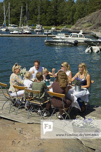 Midsummer celebrations in the archipelago of Stockholm  Sweden.