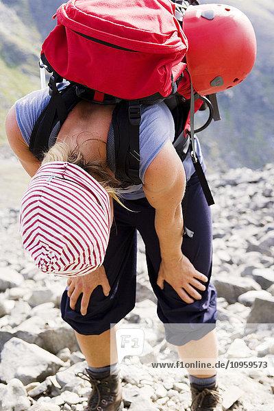 Anstrengung,Außenaufnahme,Berg,Einzelperson,Ende