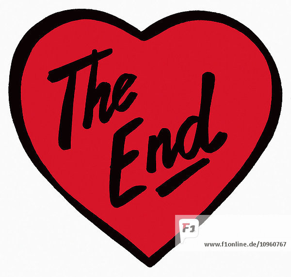 '''The End'' geschrieben auf rotem Herz'