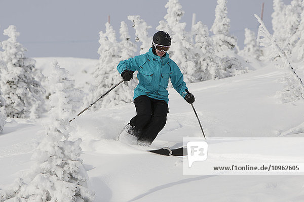 'Skiing on Whistler Mountain; Whistler  British Columbia  Canada'