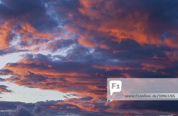 'Clouds at sunset; Waterloo  Quebec  Canada'