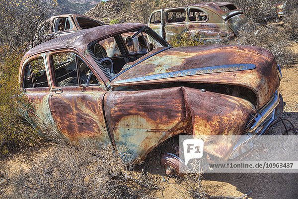 'Abandoned cars; South Africa'