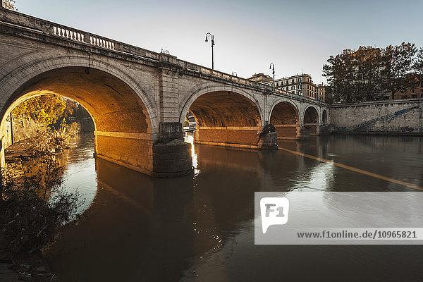 'Bridge over a river; Rome  Italy'